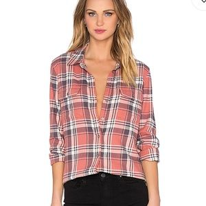 Paige Trudy Button Up Canyon Rose & Graystone